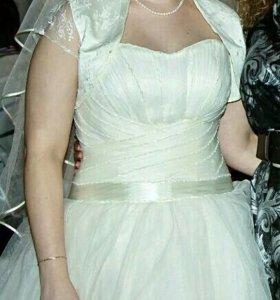 Свадебное платье, болеро и шубка ТОРГ