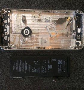 Корпус на Айфон 5s + батарея
