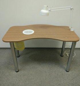 Стол для маникюра с вытяжкой