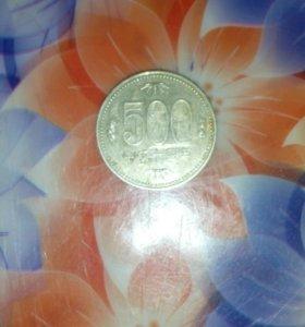 Монета 500 йен