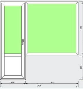 Балконный блок в наличии (дверь+окно)