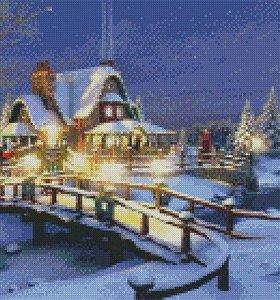 """Алмазная мозаика (вышивка) """"Рождество"""""""