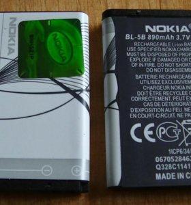 Аккумулятор NOKIA BL-5B новый 890 мАч батарея