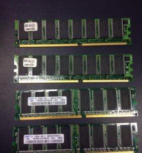 Оперативная память DDR 4x256mb