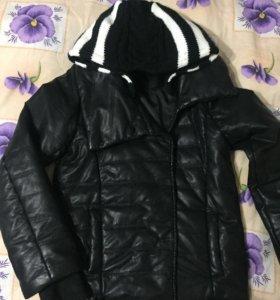 Куртка кожаная, детская