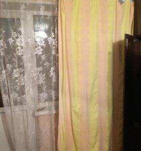Карниз со шторами и тюлем