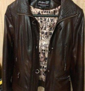 Куртка женская кожаная 2xl