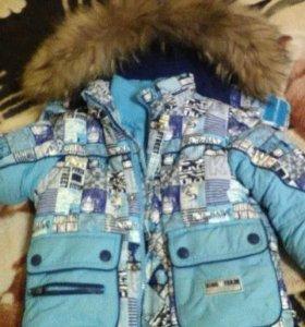 продам зимний комплект комбинезон и куртка кико