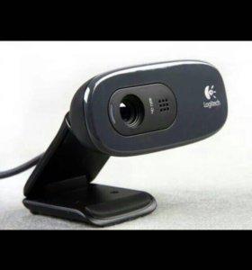 Веб-камера Logitech c270 и наушники