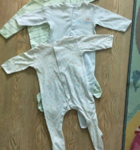 Комбинезоны пижамы Mothercare 6-9 мес 3шт