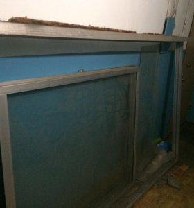 Рама балконная алюминиевый профиль
