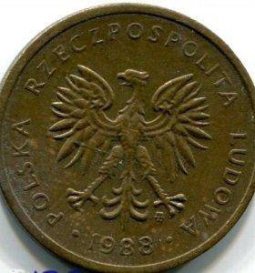 Монета Польши. 2 злотых 1988