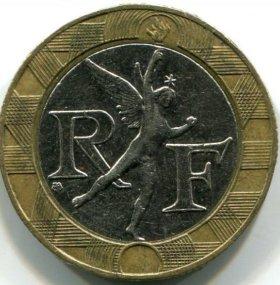 Монета Франции. 10 франков 1988