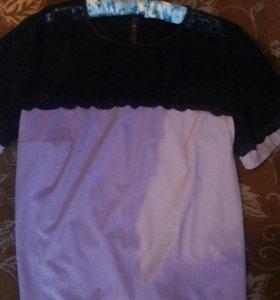 Блузка с кружевом.новая.