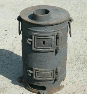 Буржуйка чугунная-40м2