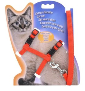 Шлейка-поводок для кошек