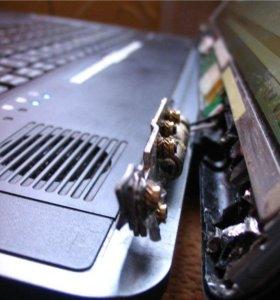 Ремонт шарниров ноутбука