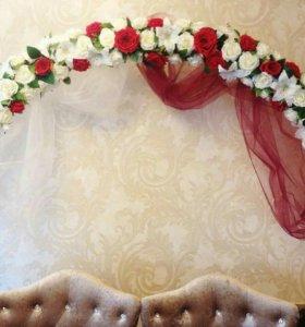Праздничная свадебная арка