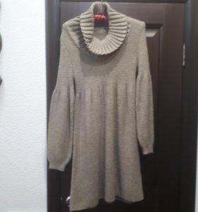 Платье вязаное с шерстью 42 р-р