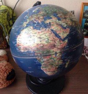 Глобус с подсветкой внутри
