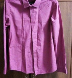 Рубашка мужская,цвет фуксия,р 46