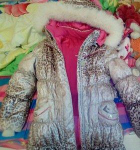 Куртка зимняя для девочки,рост 128 см