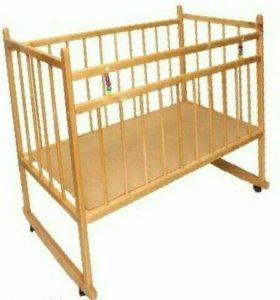Кроватка-качалка+матрасик
