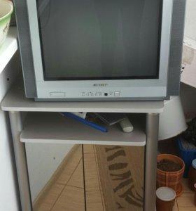 Продам телевизор с тумбой