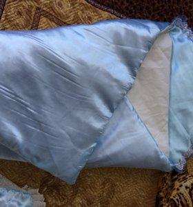 Теплый конверт одеяло на выписку