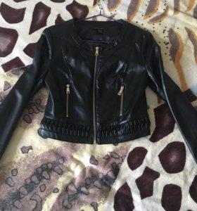 Кожаная куртка , короткая