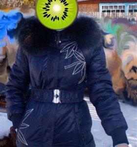 Пуховик, куртка, на зиму
