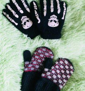Шапочка +Перчатки