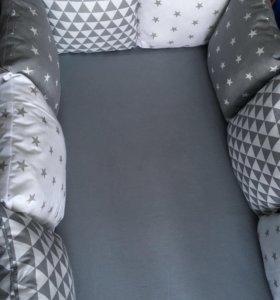 Бортики-подушки комплект в кроватку