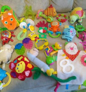 Погремушки, игрушки, прорезыватели