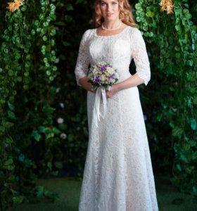 Свадебное платье в стиле Ампир (цвет пудра)