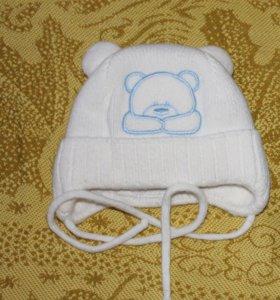 Зимняя шапочка на малыша р.40-42