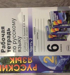 Рабочая тетрадь по русскому языку 6 класс часть 2