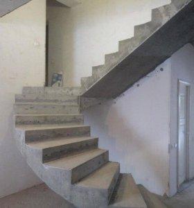 Бетонные работы,монолитные лестницы, перекрытия