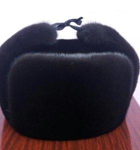 Норковая шапка ушанка