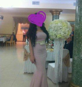 Платье в пол русалка, вечернее