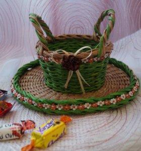 плетеные изделия из бумажной лозы