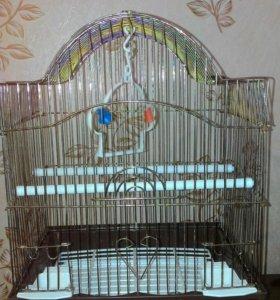 Продам НОВУЮ клетку для попугаев.