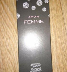 Дезодорирующий спрей для тела, Femme, Avon новый