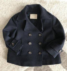 Zara пальтишко 2/3 года 98см