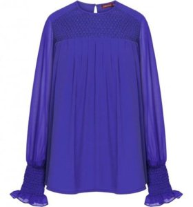 Блузка, цвет ярко-синий