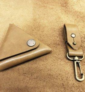 Треугольная монетница ручной работы