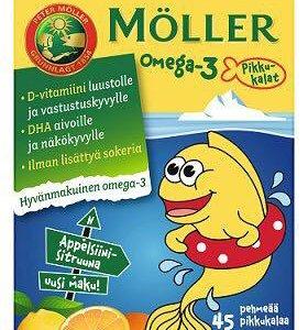 Витамины Möller Omega-3 рыбки 45 таб