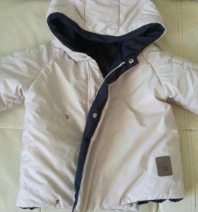Куртка бежевая/синяя 24 мес