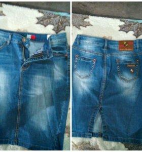 Фирменная джинсовая юбка Italian