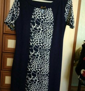 Платье ж. Р. 48_50,тёмно_синее